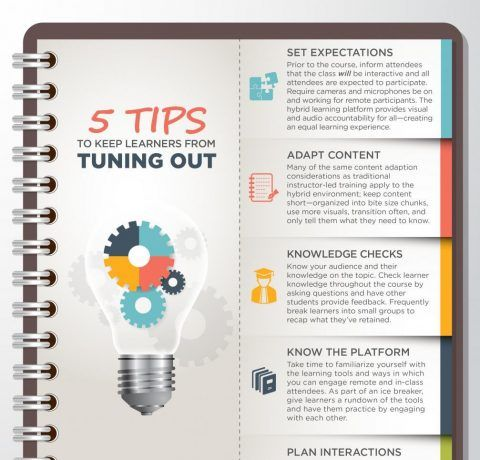Five Tips To Keep Learners From Tuning Out Infographic