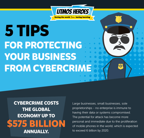 5 Tips For Protecting Your Business From Cybercrime Infographic