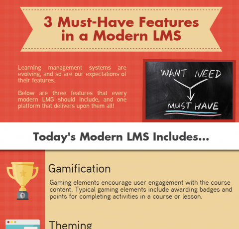 3 Must-Have Features in a Modern LMS Infographic
