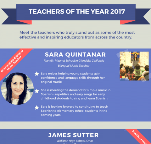 Teachers of the Year 2017 Infographic