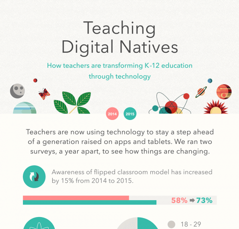 Teaching Digital Natives Infographic