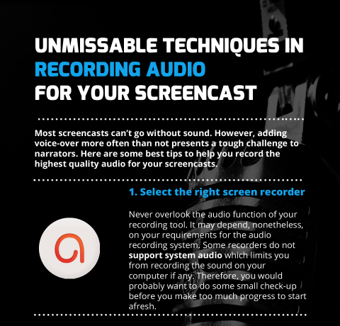 Recording Audio for Your Screencasts Infographic