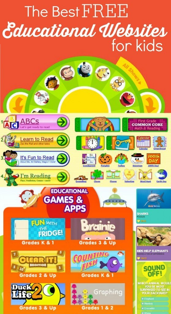 The Best Free Educational Websites for Kids Infographic