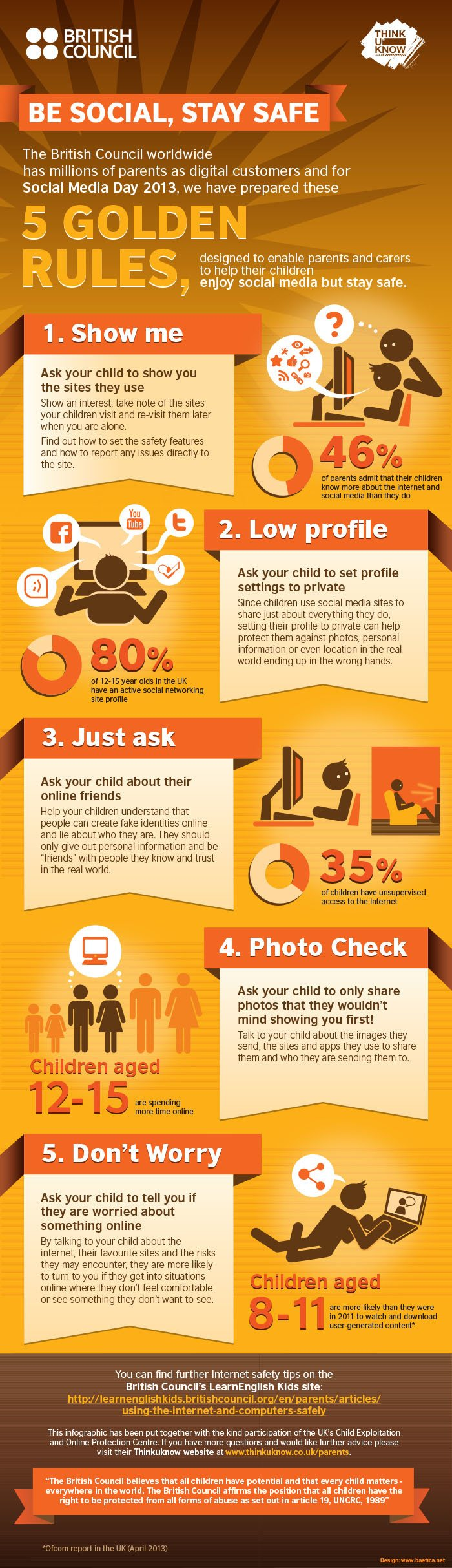 The 5 Golden Rules for Children's Online Safety Infographic