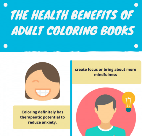 The Health Benefits Of Adult Coloring Books Infographic E