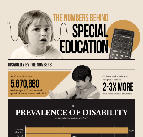 The Numbers Behind Special Education Infographic