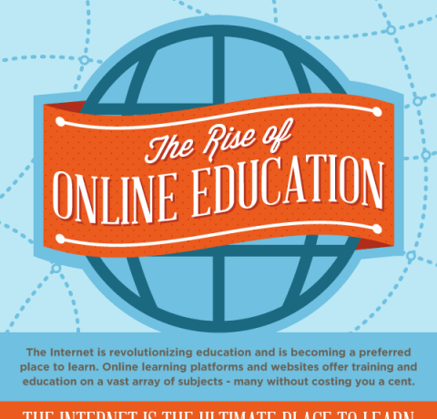 The Rise of Online Education Infographic - e-Learning Infographics