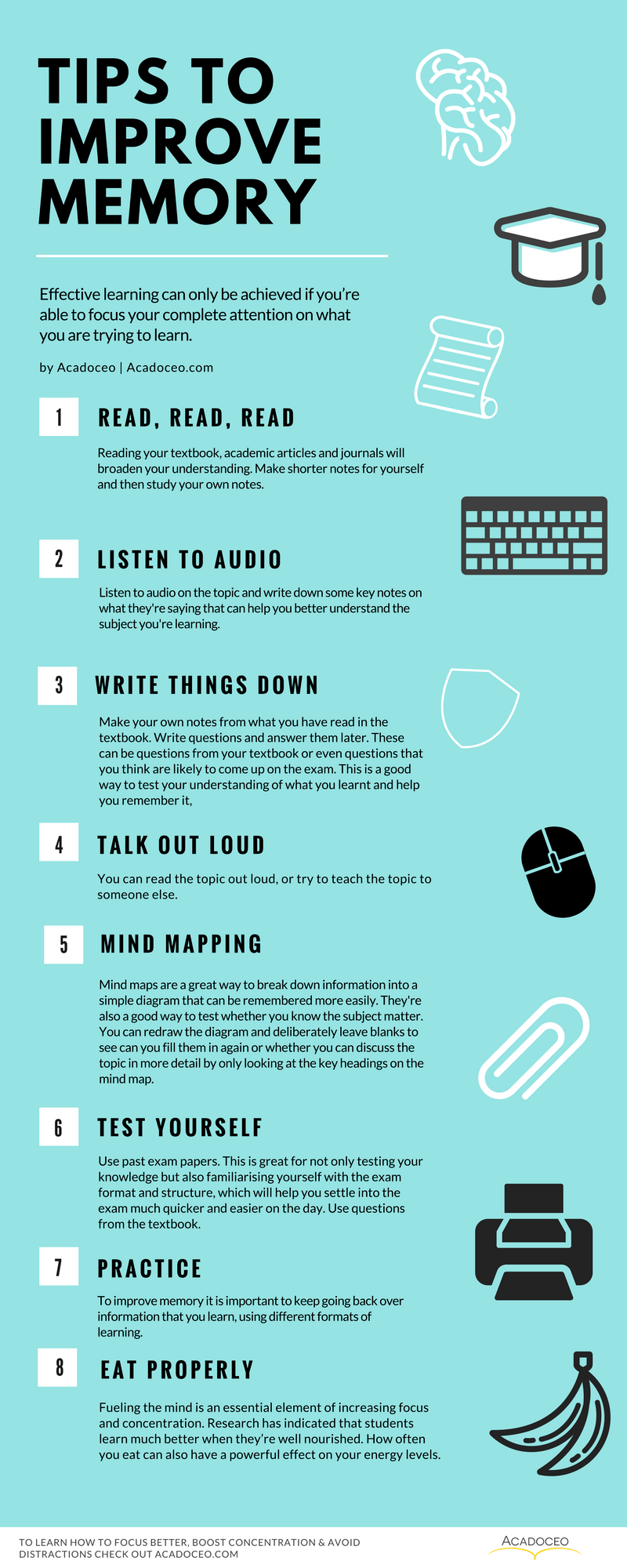 Tips to Improve Your Memory Infographic