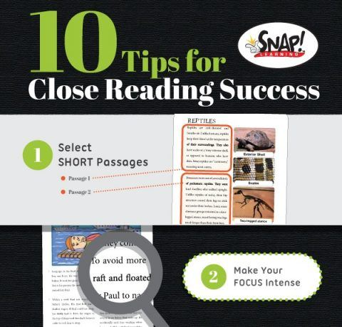 10 Tips for Close Reading Activities Infographic