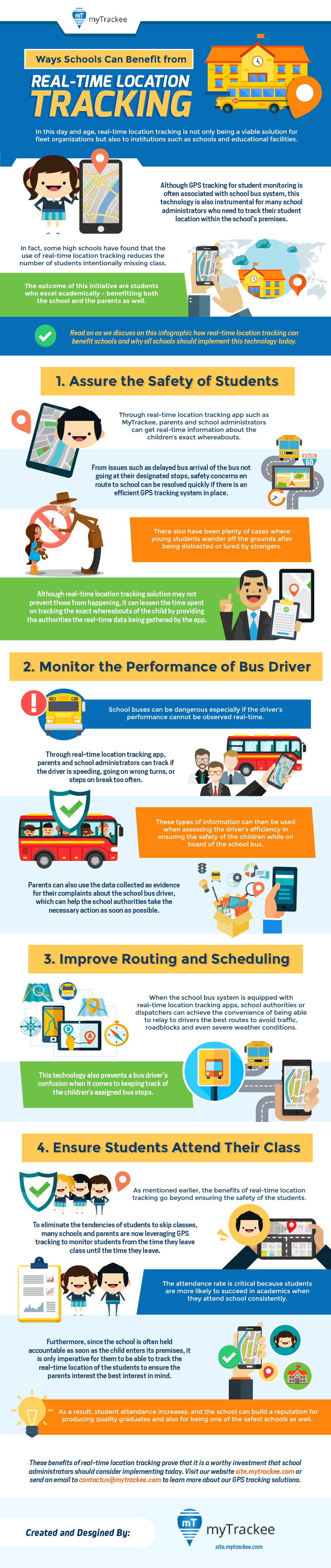Ways Schools Can Benefit From Real-Time Location Tracking Infographic