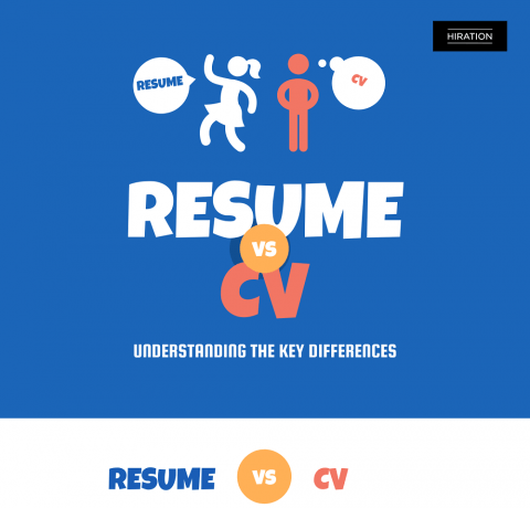 Differences Between A CV And A Resume Infographic