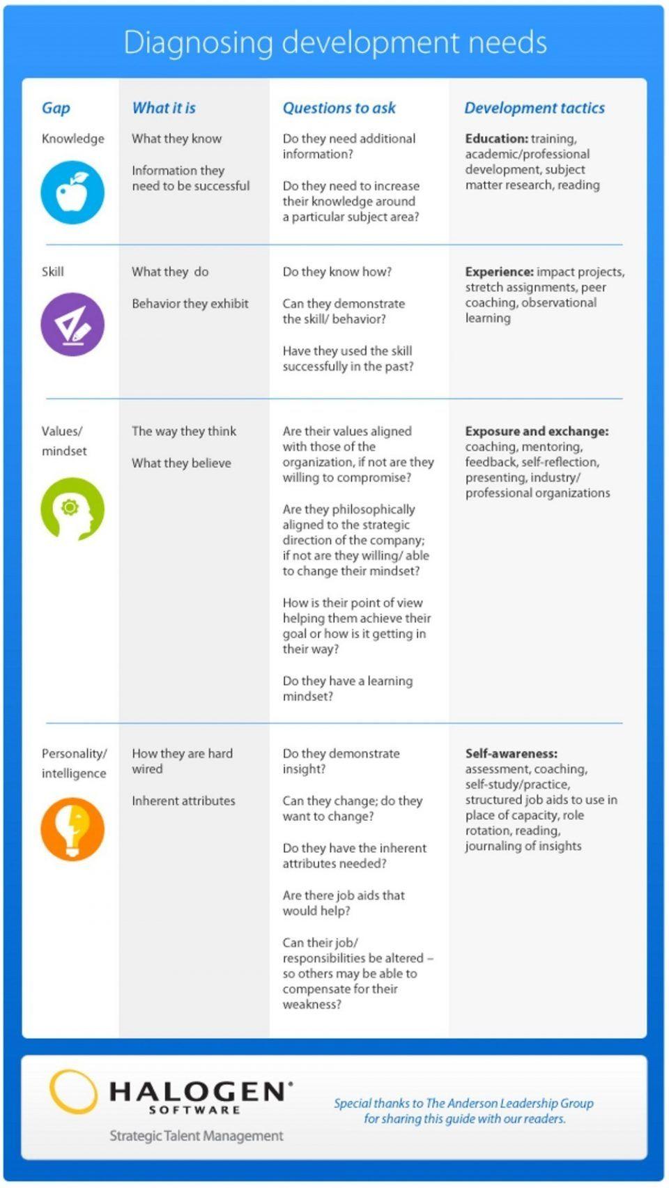 Diagnosing Employee Development Needs Infographic