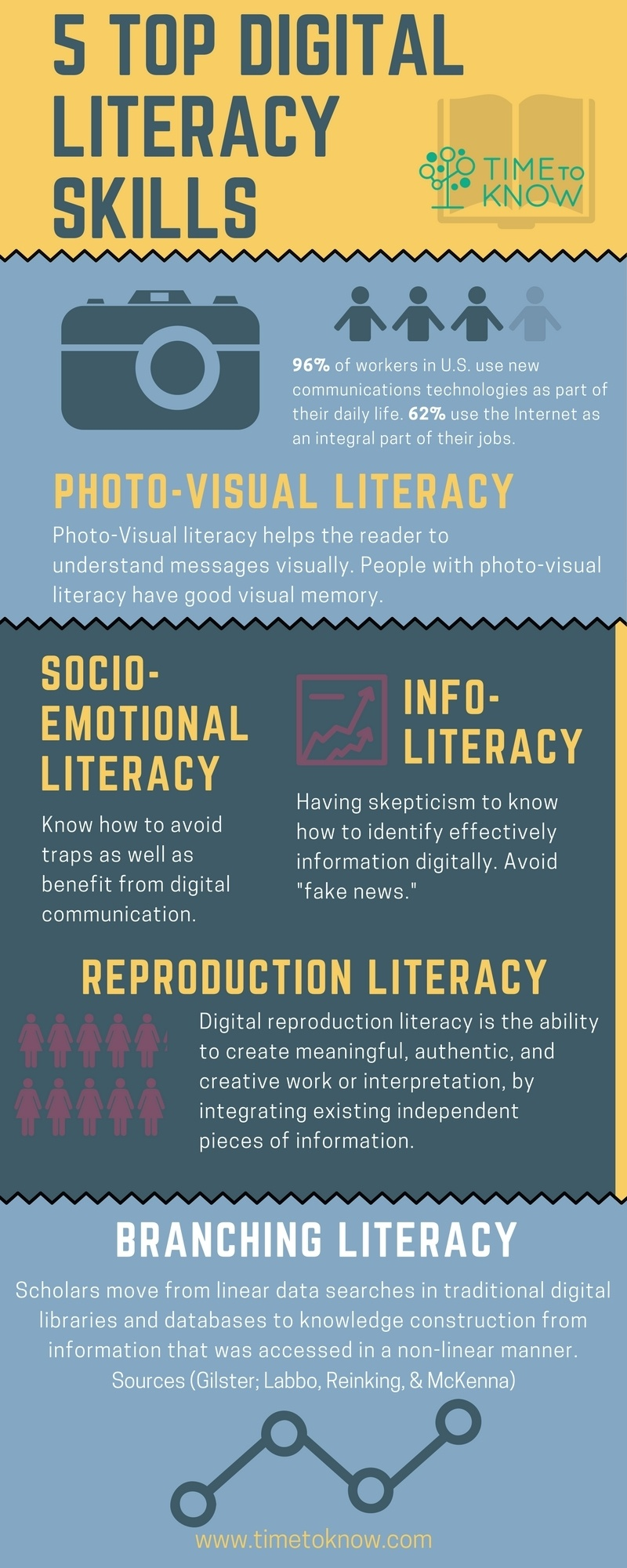 Essential Digital Literacy Skills for the 21st Century Worker Infographic