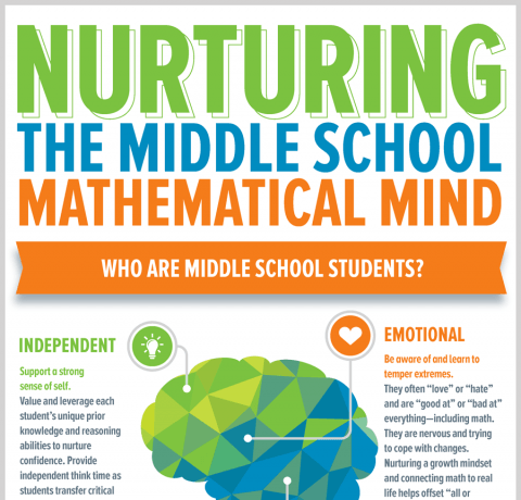 Nurturing the Middle School Mathematicial Mind Infographic