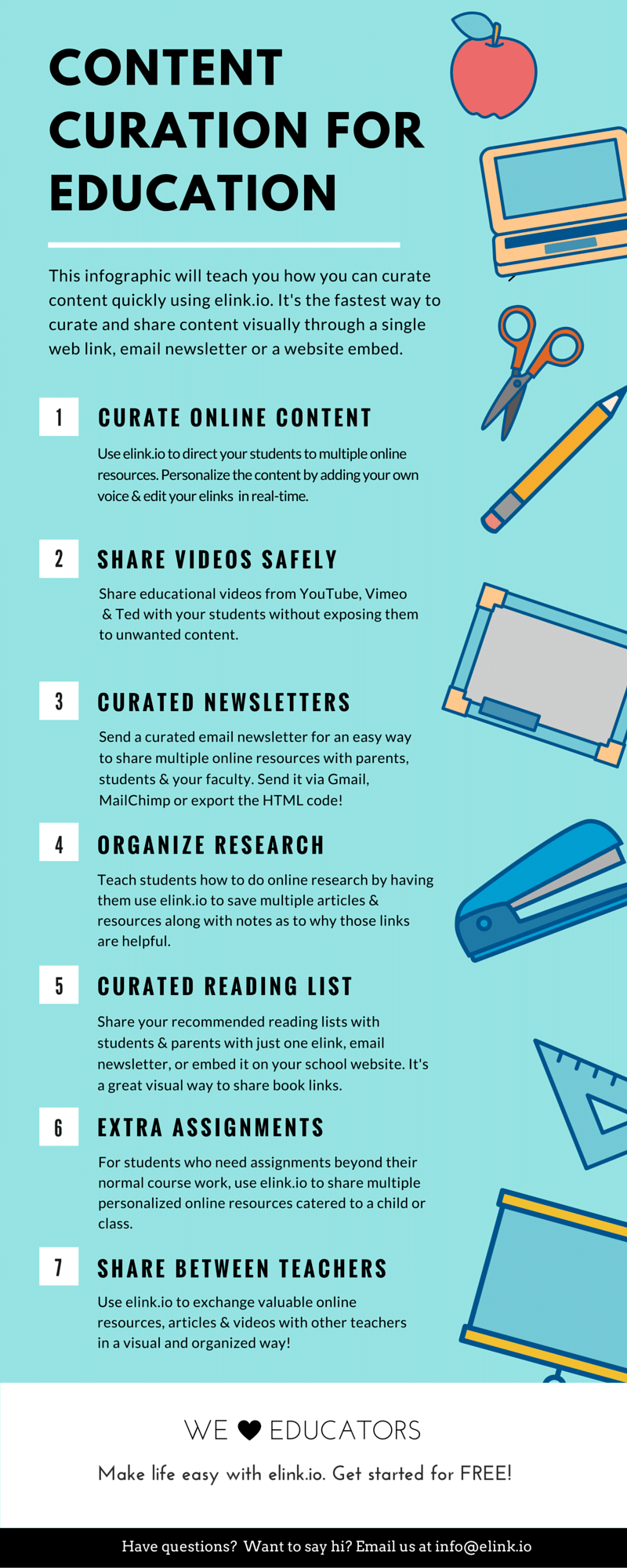 Content Curation for Education Infographic