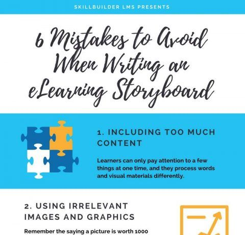 6 Mistakes to Avoid When Writing an eLearning Storyboard Infographic