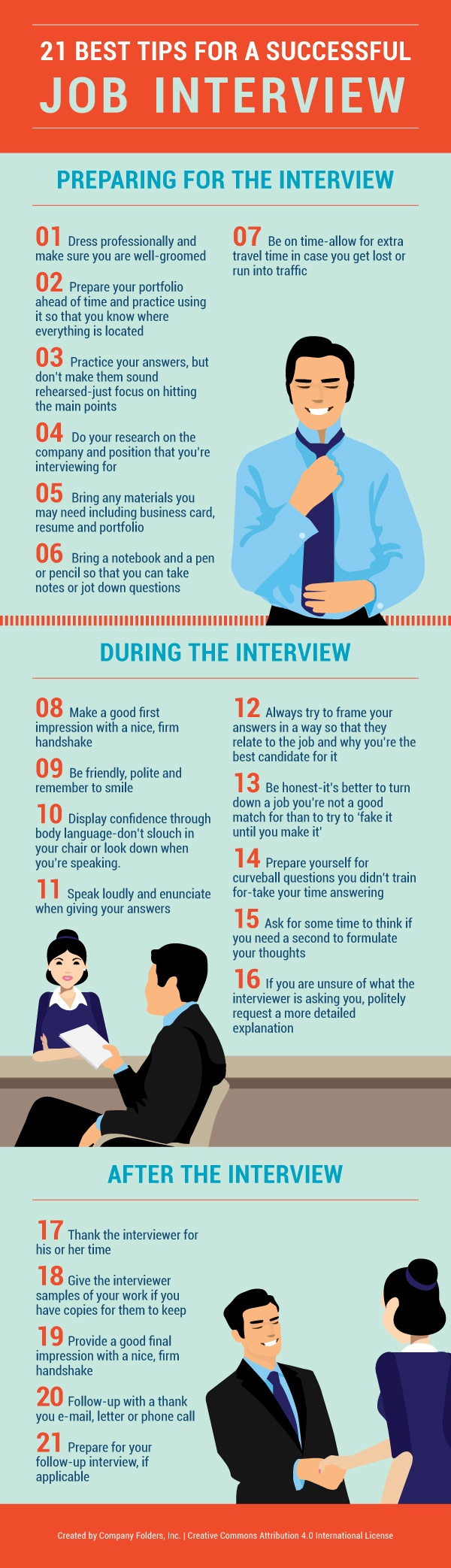 21 Tips for a Successful Job Interview Infographic