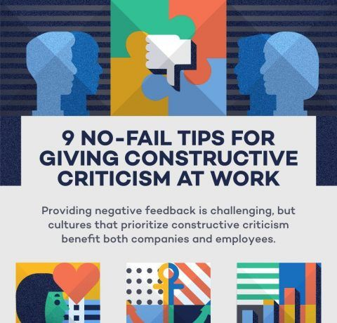 9 No-Fail Tips For Giving Constructive Criticism At Work Infographic