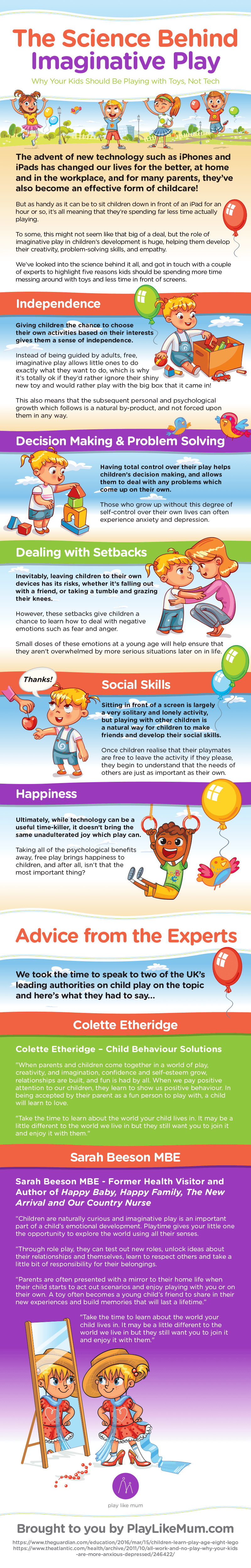 The Science Behind Imaginative Play Infographic
