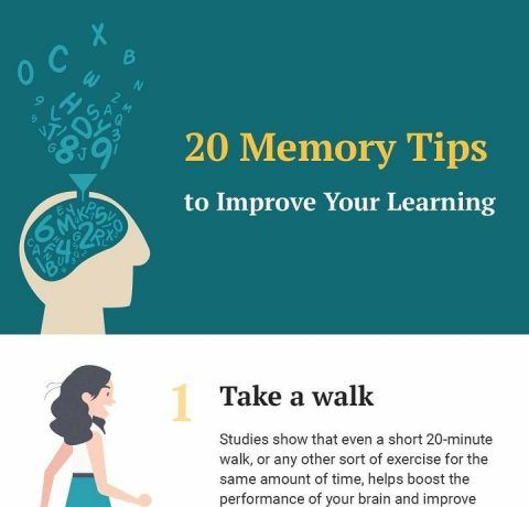 20 Memory Tips To Improve Your Learning Infographic