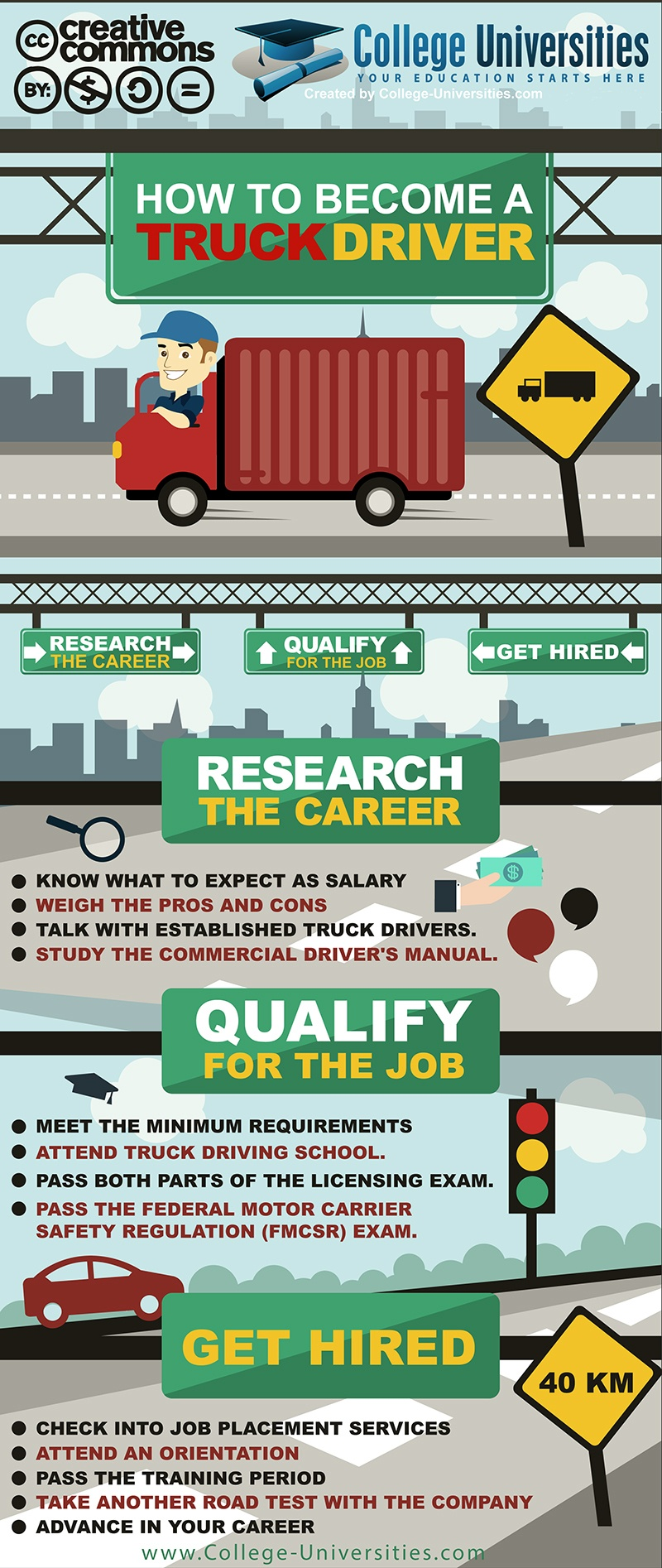Learn to Become a Truck Driver Infographic - e-Learning Infographics