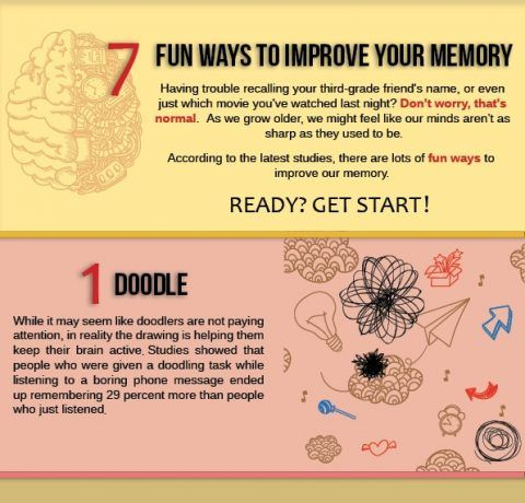 Fun Ways To Improve Your Memory Infographic