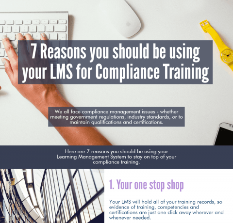Using your LMS for Compliance Training Infographic