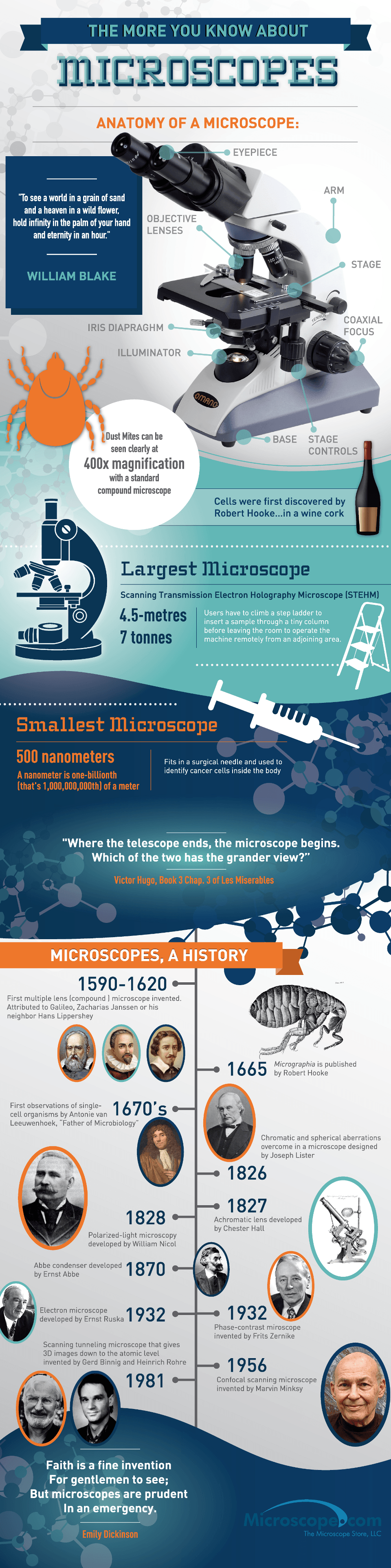 The More You Know About Microscopes Infographic