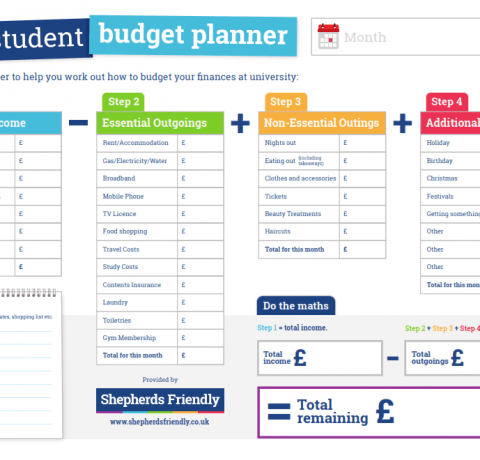 Student Budget Planner Infographic