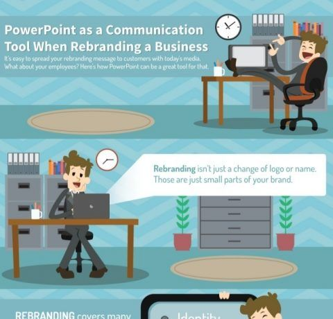 PowerPoint As A Communication Tool When Rebranding A Business Infographic