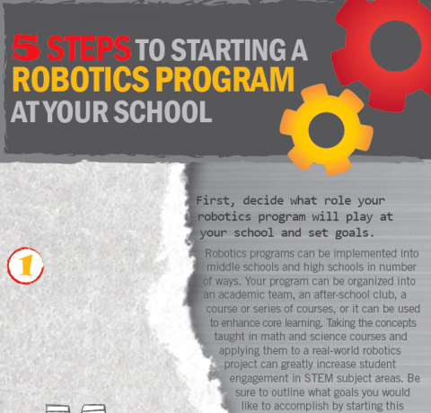 How to Start a Robotics Program at Your School Infographic