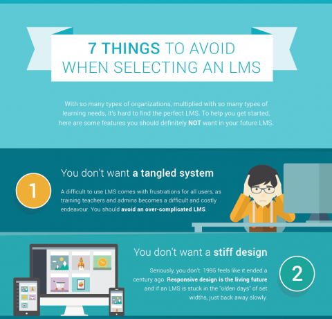 What to Avoid When Selecting an LMS Infographic