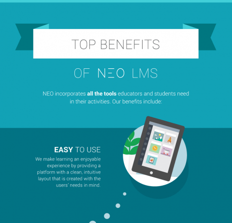 Top Benefits of NEO LMS Infographic