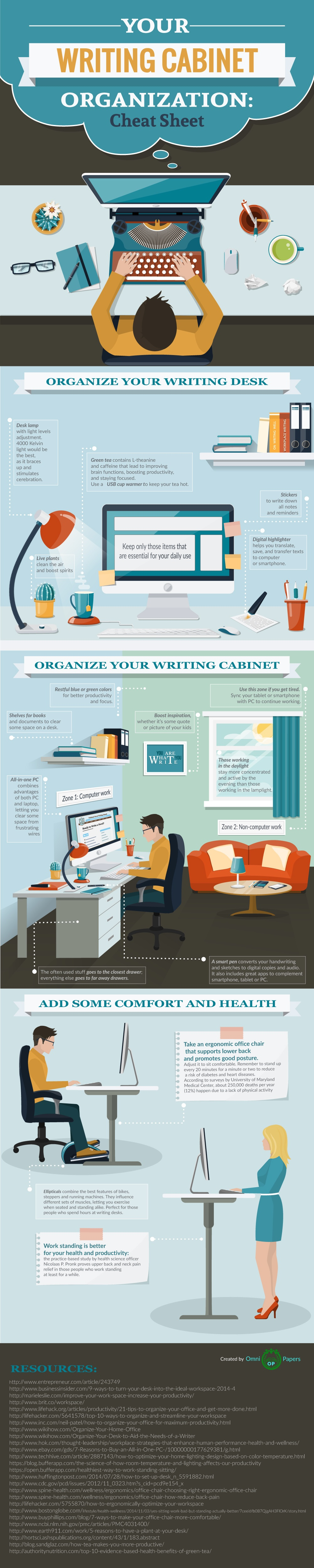 How to Organize Your Workplace for Better Productivity Infographic